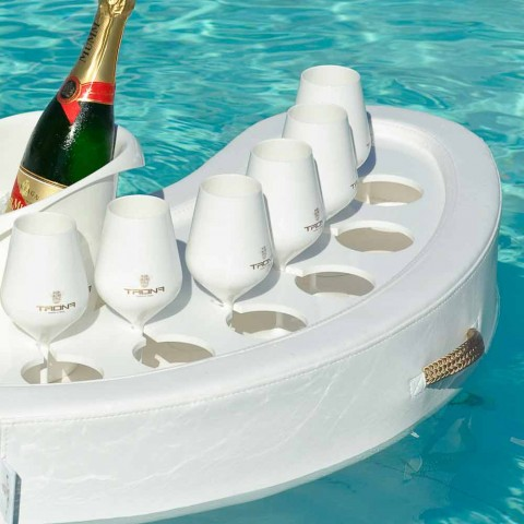 Swim-up bar Trona konstläder vit nautiska och plexiglas