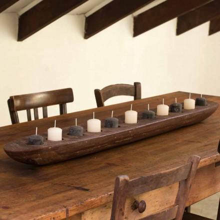 Vaxbåt med bruna eller elfenbenbelysning inklusive tillverkad i Italien - Ludvig