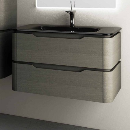 Modernt design upphängt sjunkerbas 85x55x55cm Arya lackerat trä