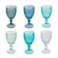12 stycken färgat glas för glas vin eller vatten - Mazara