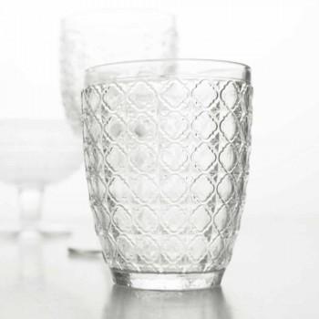 6 delar serveringsglas i genomskinligt glas för vatten - optiskt