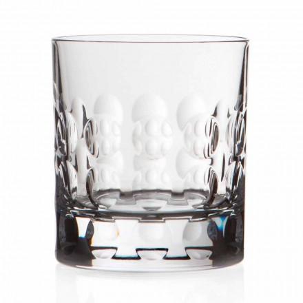 Dubbel gammaldags kristall whiskyglas 12 stycken - Titanioball