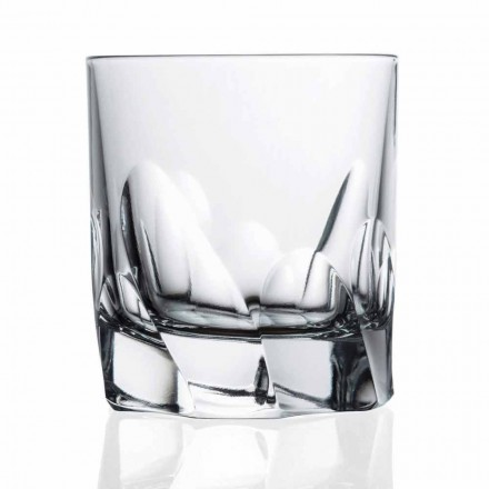 Dekorerat kristallglas whisky eller vatten 12 stycken Dof Design - Titanium