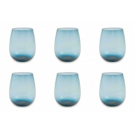 Moderna och färgade glas vattenglasögon Service av 12 stycken - Aperi
