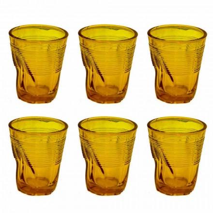 Moderna färgade glasvattenglasögon 12 stycken design - Sarabi