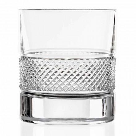 Låga glasögon i ekokristall med lyxig dekoration 12 stycken - Milito