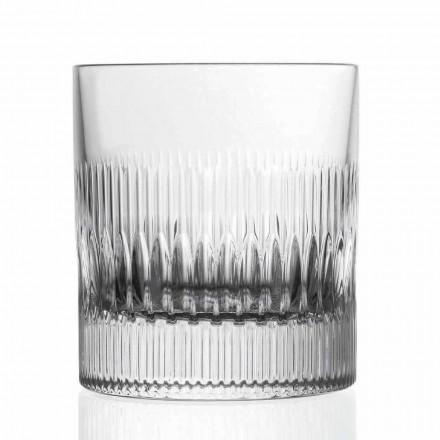 Crystal Whisky och vattenglasögon 12 stycken Vintage Style Decor - Taktil