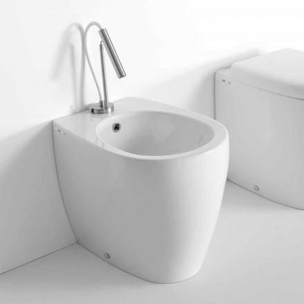 Golvbidett i modern design i färgad keramik tillverkad i Italien - Lauretta