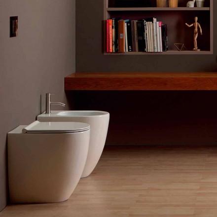 Bidé i modern design keramiska Shine Square Open Rimless H50 cm
