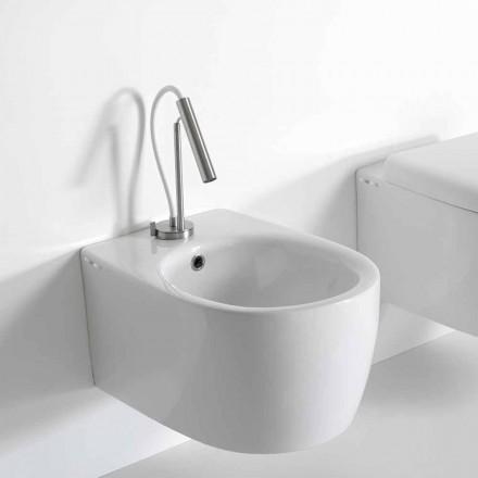 Vägghängd bidé i modern design i färgad keramik tillverkad i Italien - Lauretta
