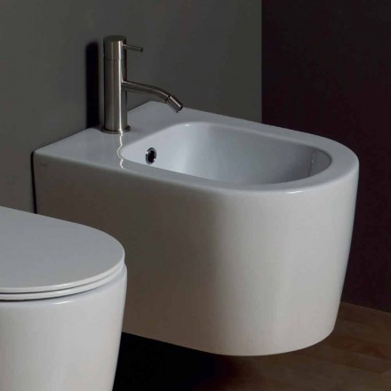 Hung bidé i modern Shine Square 50x35cm keramik, tillverkad i Italien