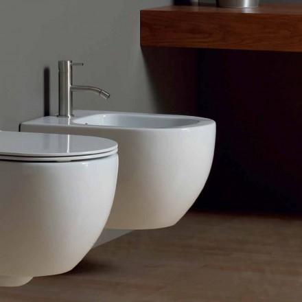 Bidé modern fjädring vit keramik Star 50x35cm Made in Italy