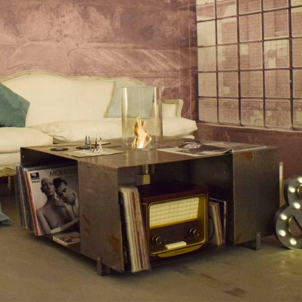 Golv Bio-spis och soffbord i modern design i stål - Christopher