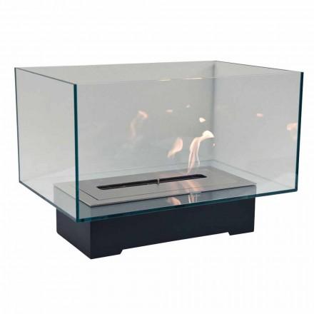 Modern designgolv Bio-spis i glas och stål eller Corten - Bradley