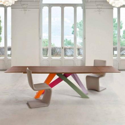 Bonaldo Big Table extensibelt träfanerbord tillverkat i Italien