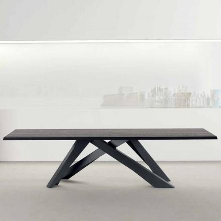 Bonaldo Big Table massivt antracitgråt träbord tillverkat i Italien