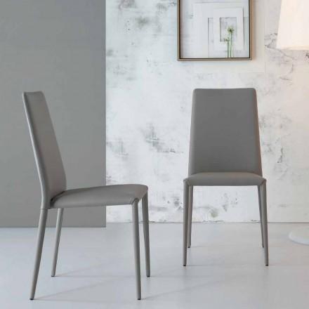 Bonaldo Eral modern designstol betrudad i läder gjord i Italien