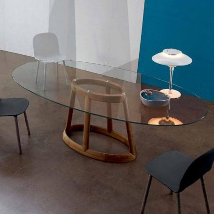 Bonaldo Greeny ovalt bord i kristall- och trädesign gjord i Italien