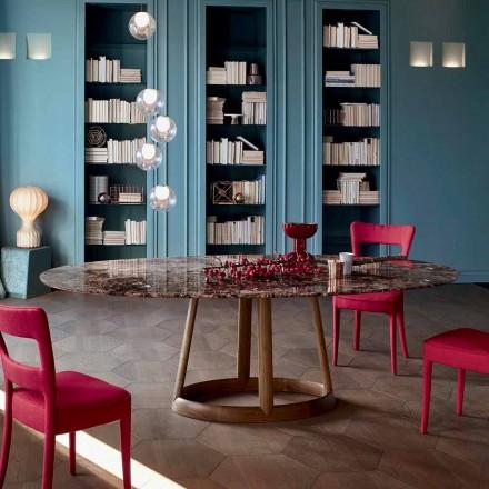 Bonaldo Greeny runda borddesign marmor Emperador gjorde Italien
