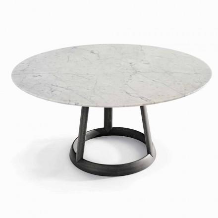 Bonaldo Greeny runda borddesign Carrara marmorgolv tillverkat i Italien