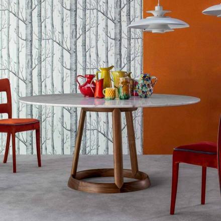 Bonaldo Greeny runda bordet Calacatta marmorgolv tillverkat i Italien