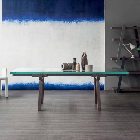 Bonaldo Spår utdragbart kristall matbord tillverkat i Italien