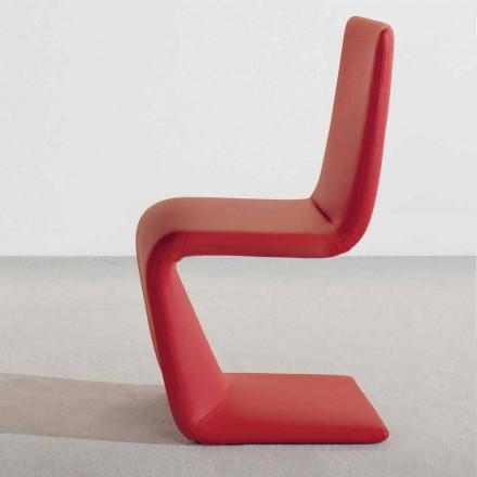 Bonaldo Venere modern designstol betrudad i läder gjord i Italien