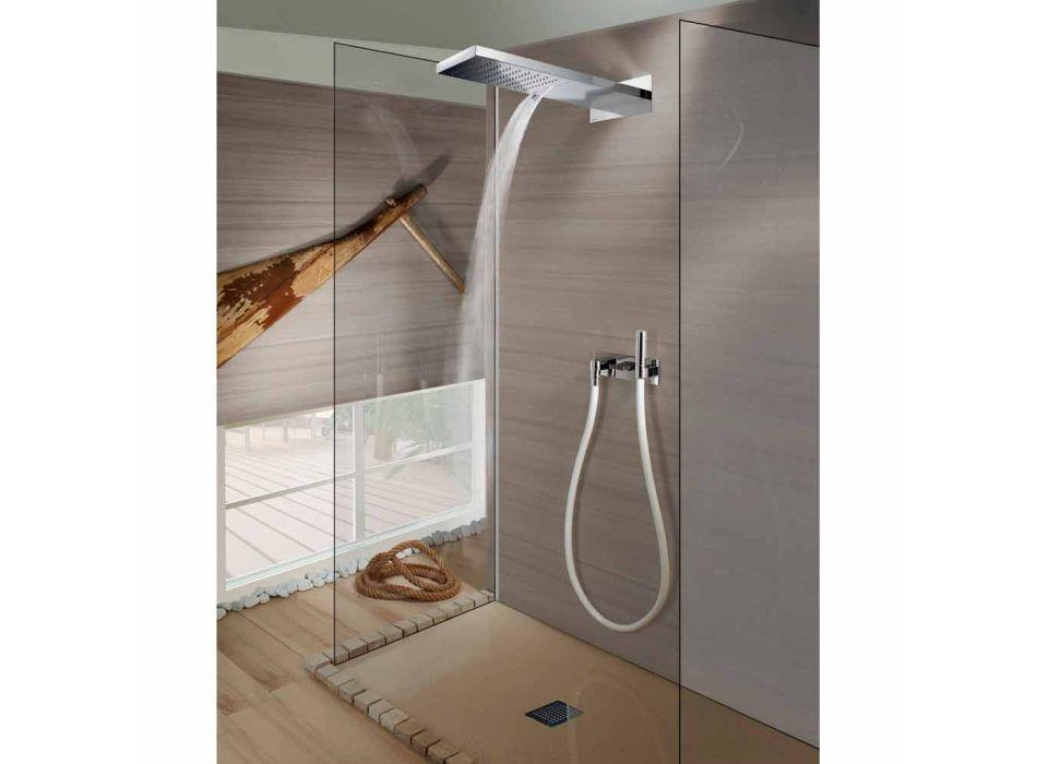 Bossini Manhattan duschmunstycke i rostfritt stål med två strålar