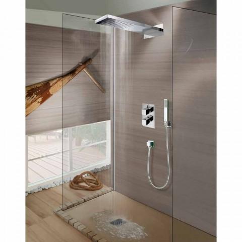 Bossini Manhattan duschmunstycke i rostfritt stål med dusch, regn