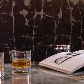 Flaska och glas för lyxig whisky i ekologisk kristall 6 stycken - arytmi