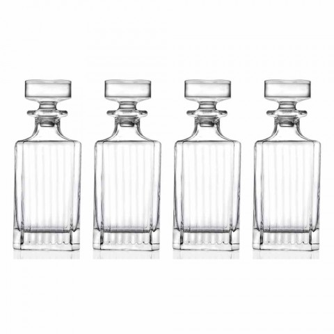 4-delade fyrkantiga designflaskor med ekologiska kristaller - Senzatempo
