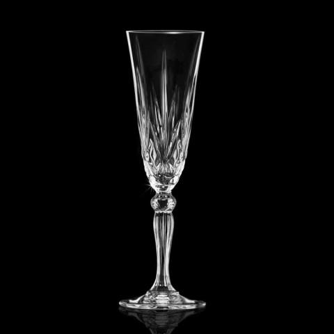 Bägare flöjt ekologiskt kristallglas för champagne 12 stycken - Cantabile