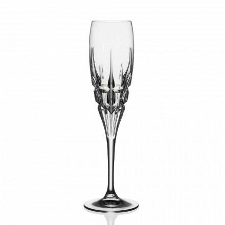 Kristallflöjtglas för champagne i ekologisk kristall 12 stycken - Fiucco
