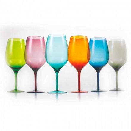 Vita eller röda färgade vinglas i glas 3 varianter 12 stycken - Aperi