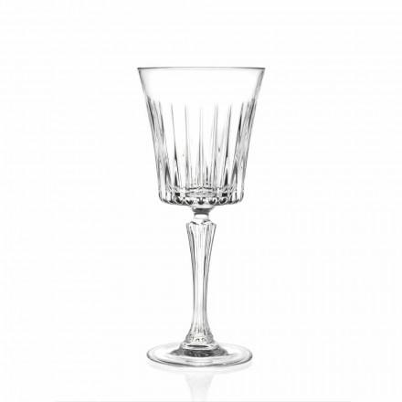 Lyxigt vin- och cocktailglas Design i Eco Crystal 12 stycken - Senzatempo