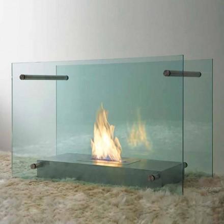 Golv Bioetanol spis i glas och stål design för inomhus - Edison