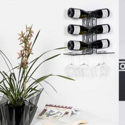 Källare dörr vägg tonade flaskor Luna, modern design