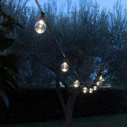 Neopren utomhuskabel med 8 LED-lampor ingår Made in Italy - Party