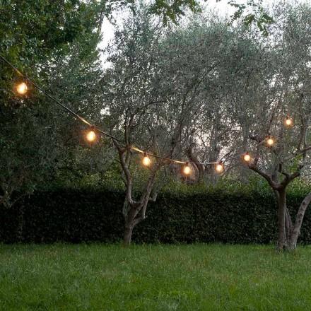 Neopren utomhuskabel med 8 lamphållare och 2 krokar tillverkade i Italien - Festa