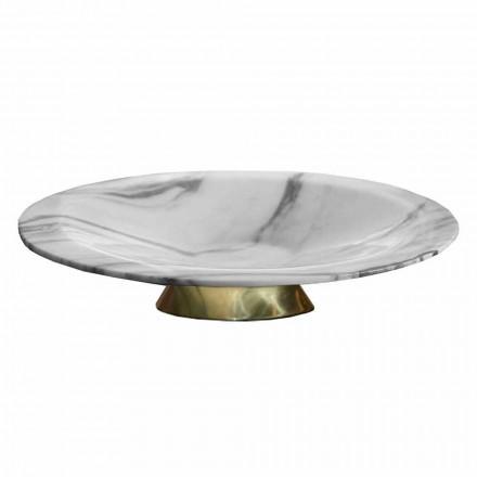 Mittpunkt i Brezza della Versilia marmor och metall tillverkad i Italien - Amabile