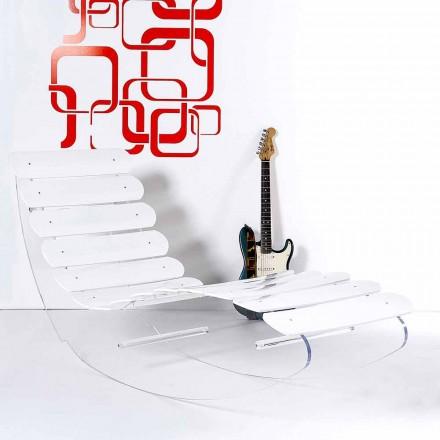 Chaise longue konstruktion plexiglas Josue gjort i Italien