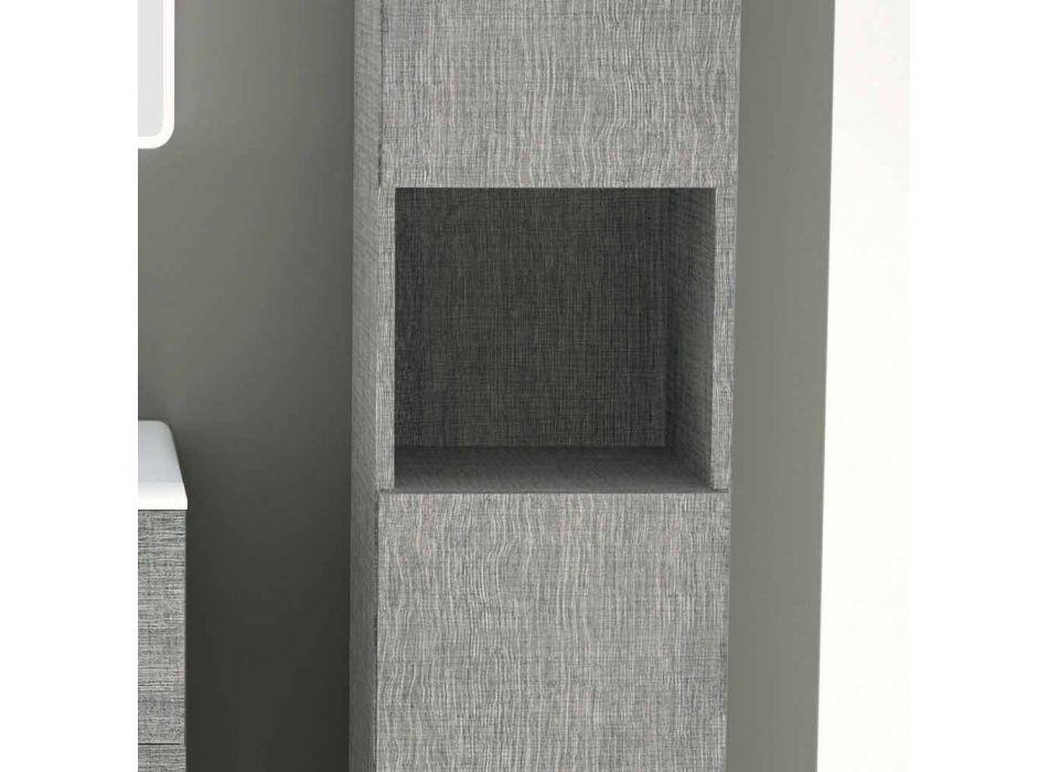 Badrumsstolpe med två dörrar i modern design ekoträ Ambra, tillverkad i Italien