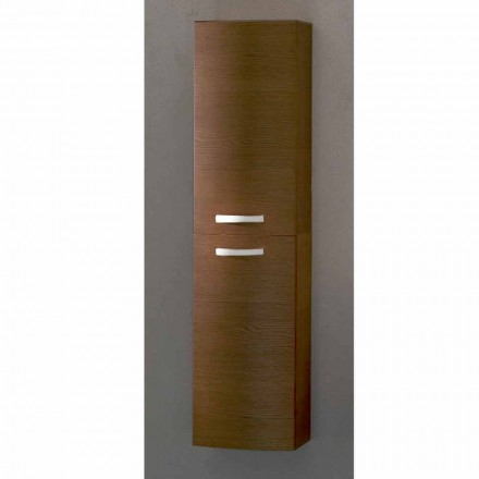 Gioia, 2 dörrvägg hängde badrumsskåp i ek, tillverkat i Italien