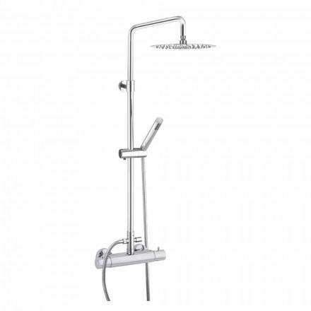 Duschpelare med Ultratunt duschhuvud av stål Made in Italy - Studio