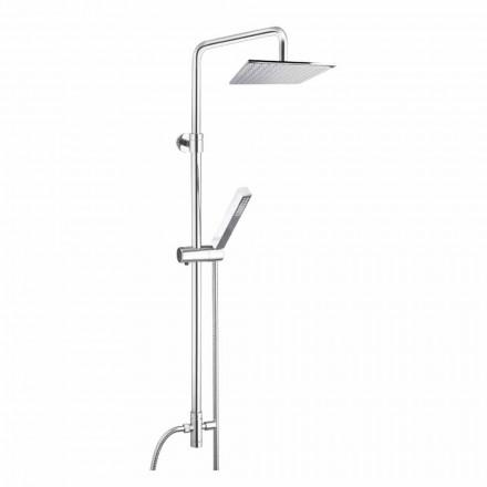 Duschpelare i mässing med duschhuvud och handdusch i Abs Made in Italy - Lesio