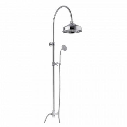 Mässingsduschpelare med duschhuvud och Abs Handdusch Tillverkad i Italien - Rimo
