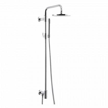 Duschpelare i förkromad mässing med duschhuvud av stål Tillverkad i Italien - Daino
