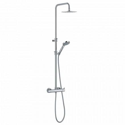 Duschpelare i förkromad mässing med runt duschhuvud Tillverkad i Italien - Griso