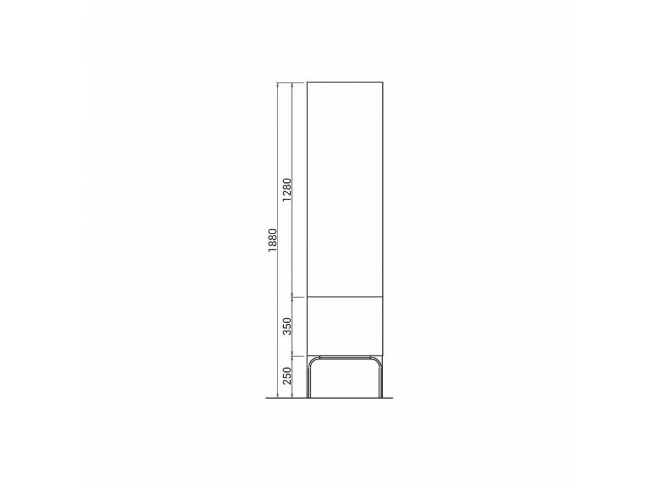 Amanda trä badrumsskåp med 2 dörrar, modern design, gjord i Italien