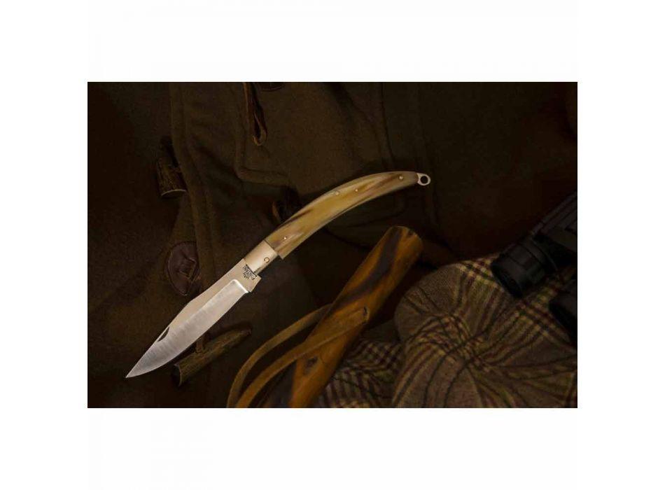 Antik handgjord jaktkniv med stålblad tillverkad i Italien - Afri